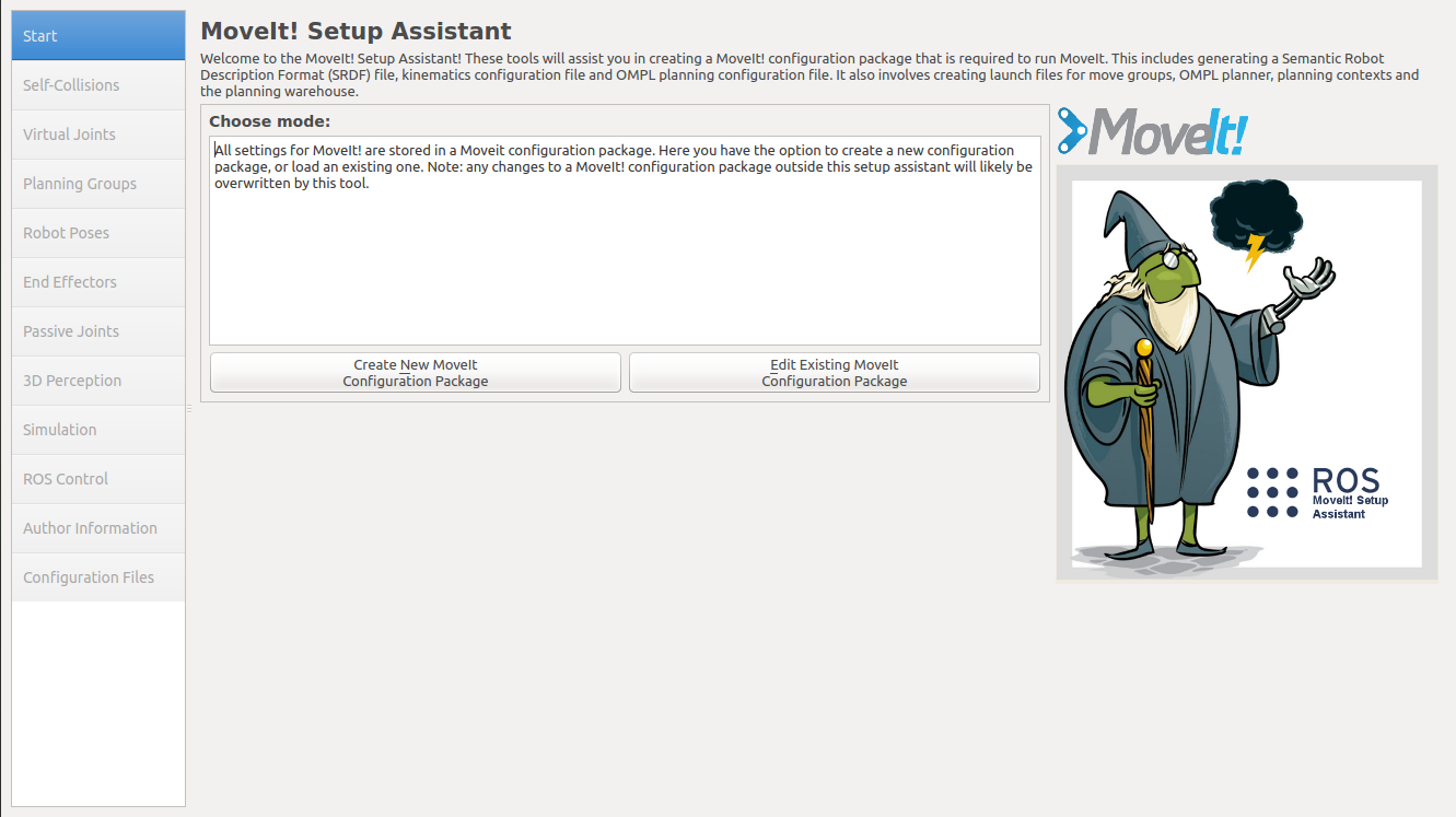 MoveIt! Setup Assistant